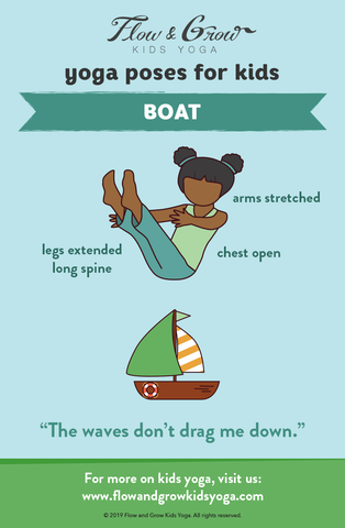 yoga poses for kids boat pose with images  yoga for kids