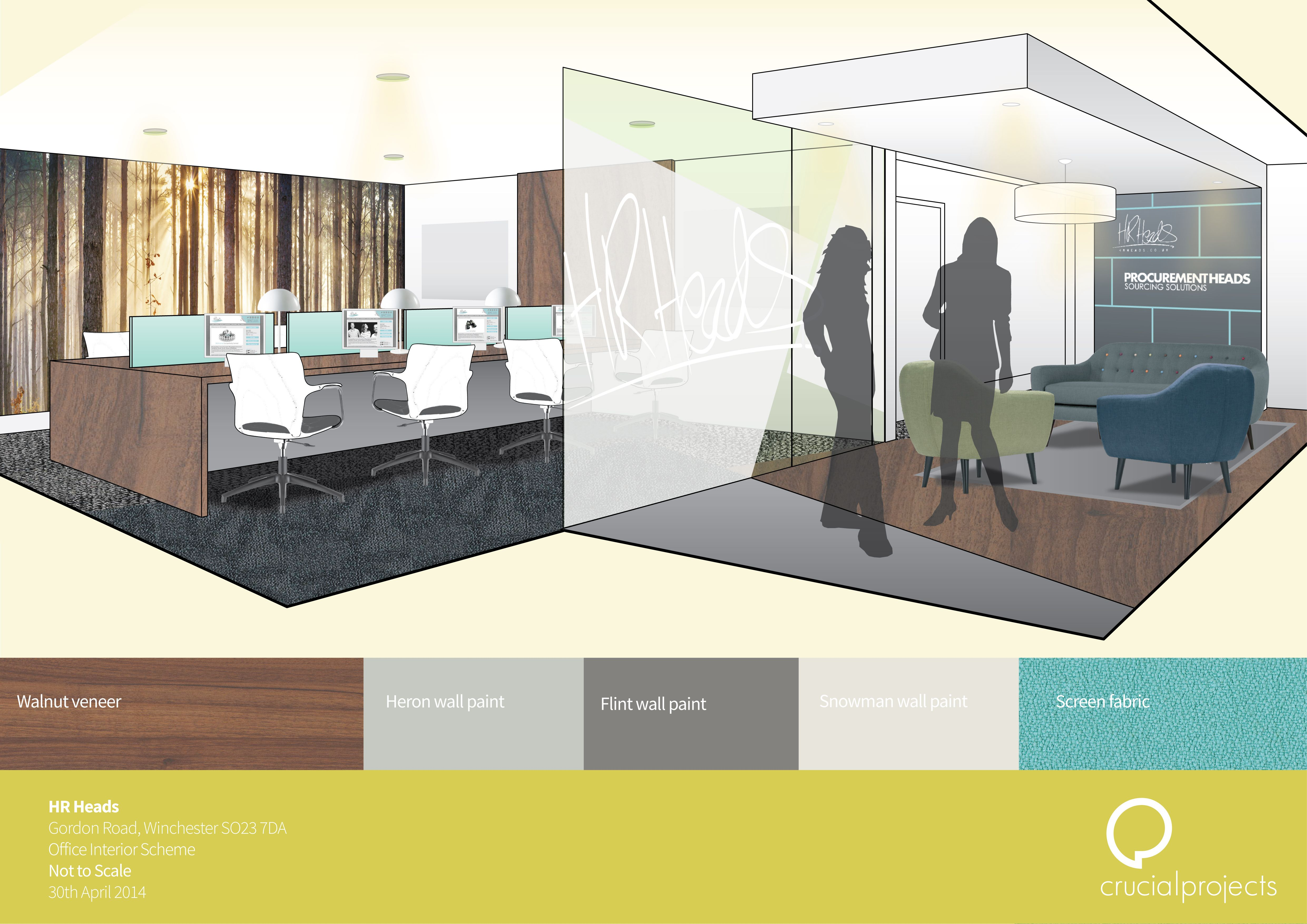 HR Heads, Winchester. Interior Visuals And Finishes Schedule.