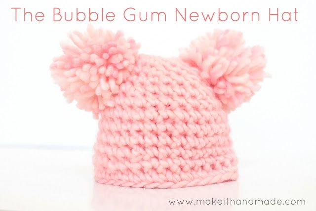Crochet a newborn hat in just 12 rows! Free pattern and tutorial for ...