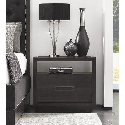 Lexington Carrera 2 Drawer Nightstand Wayfair In 2020 Furniture 2 Drawer Nightstand Home Decor