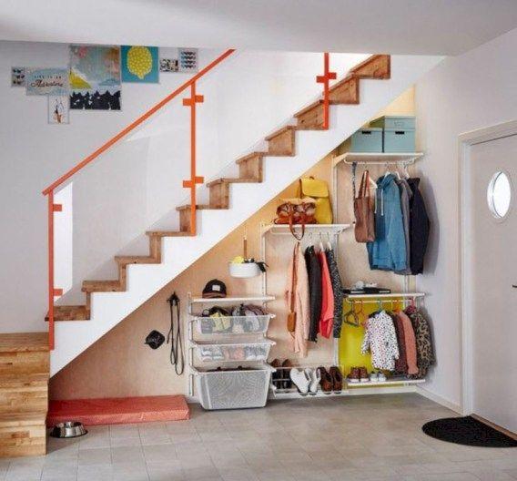 Brilliant Under Stairs Storage Ideas 24 Ikea Algot Closet Understairs Storage Stair Storage