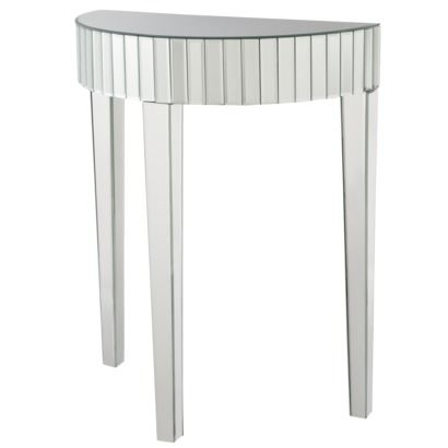 Mirror Half Moon Demilune Sofa Console Table Small Eclectic
