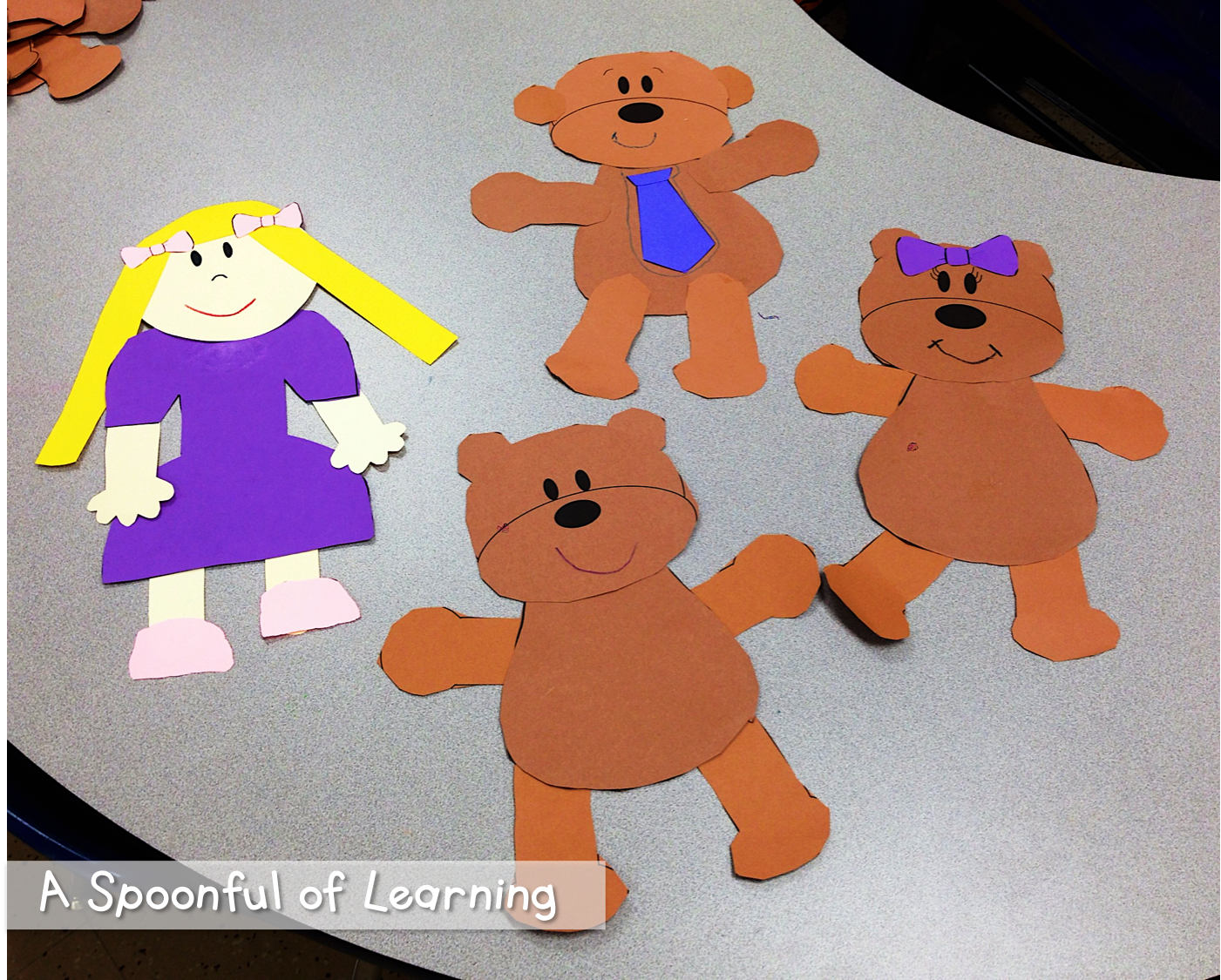 Goldilocks And The Three Bears Freebies