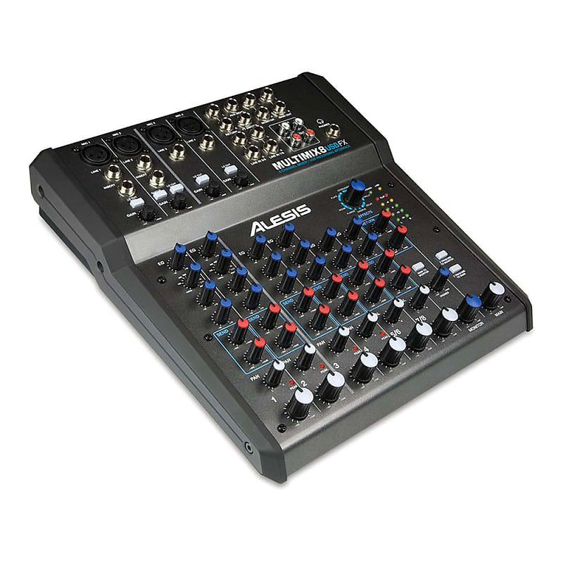 Alesis Multimix 8 Usb Fx 8 Channel Mixer With Effects Usb Audio
