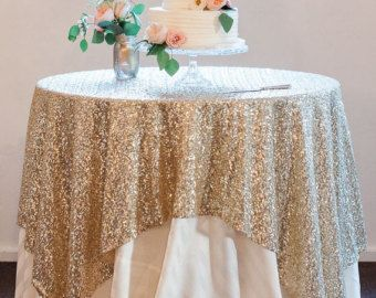 New Listing Set Of Light Gold Sequin Overlay White Satin Tablecloth Table Fancy Hanging Rose Gold Sequin Tablecloth Gold Sequin Tablecloth Sequin Tablecloth