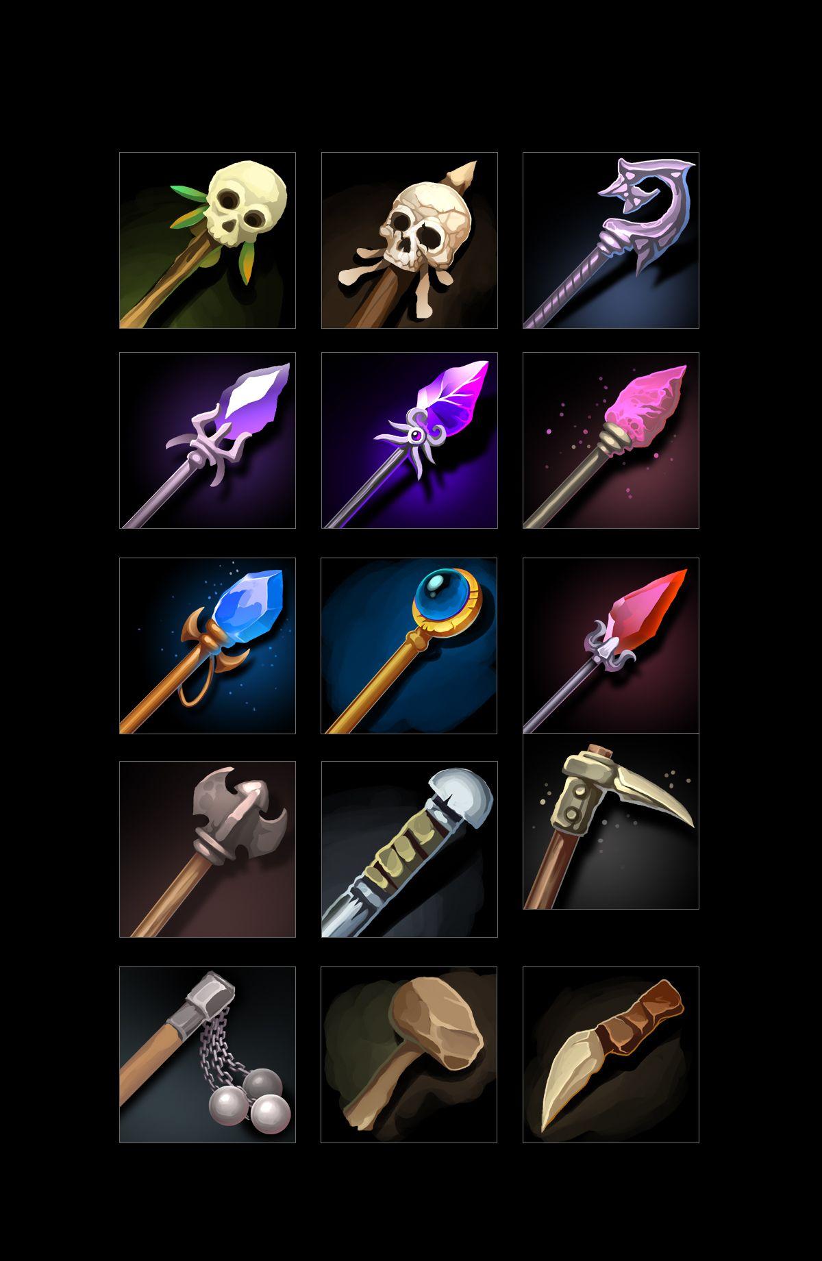 RPG Weapon Icons в 2020 г Иконки, Игры
