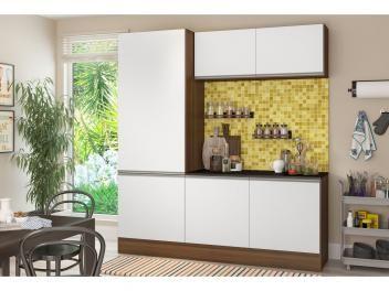 Cozinha Compacta Multimoveis Linea Com Balcao 6 Portas Cozinha