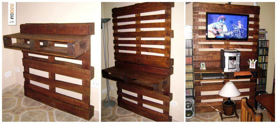 Palets reciclar paletas de madera muebles hechos con for Reciclar palets para muebles