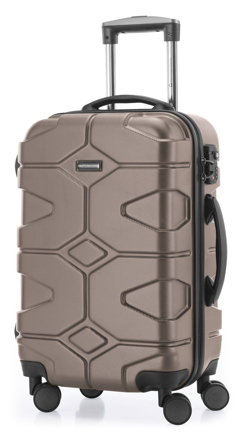 HAUPTSTADTKOFFER - X-Kölln - Bagage à main cabine Valise Trolley 4 roues extensible, TSA, 55 cm, 50 litres, Camouflage