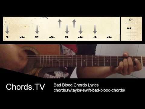How to Strum Bad Blood Taylor Swift Guitar Chords for Beginners ...