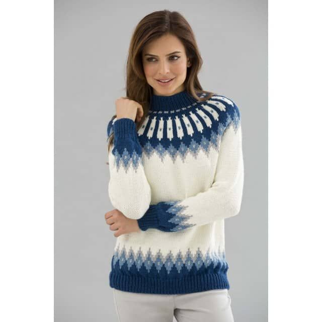 Classic Nordic Pullover Pattern (Knit) - Lion Brand Yarn ...
