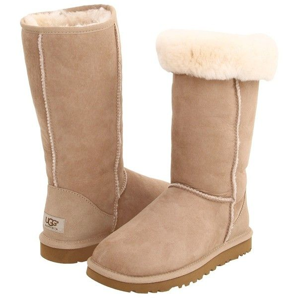 UGG Classic Tall (Sand) Women's Boots (210 CAD) ❤ liked on Polyvore