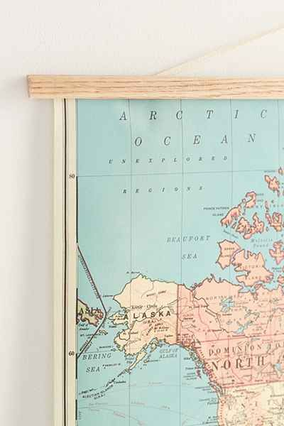 Hanging world map art print gumiabroncs Gallery