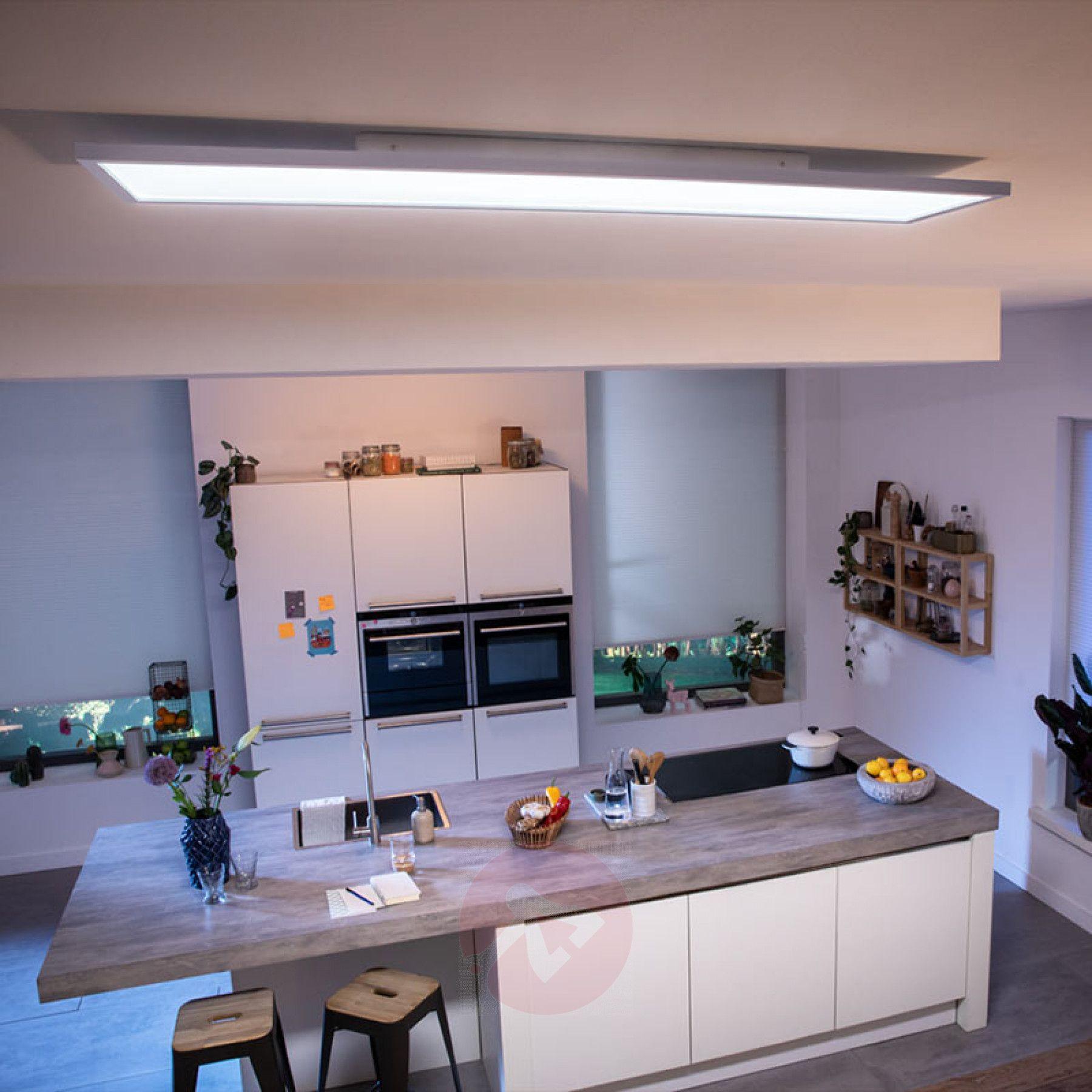 Philips Hue Aurelle Led Panel Eckig 120 X 30 Cm Kaufen Lampenwelt De Led Panel Led Deckenleuchte Kuche