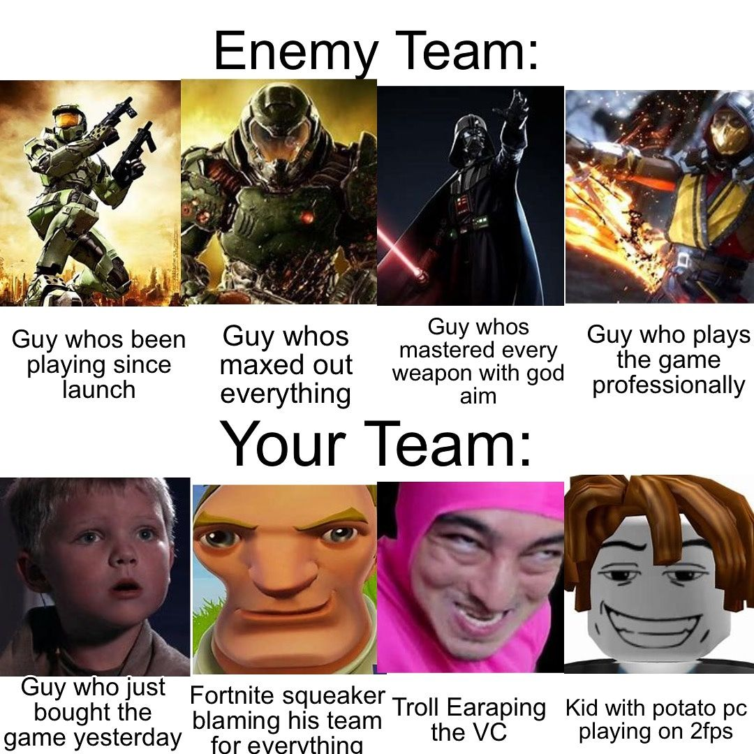 Best Teamates Ever In 2020 Really Funny Memes Funny Gaming Memes Crazy Funny Memes