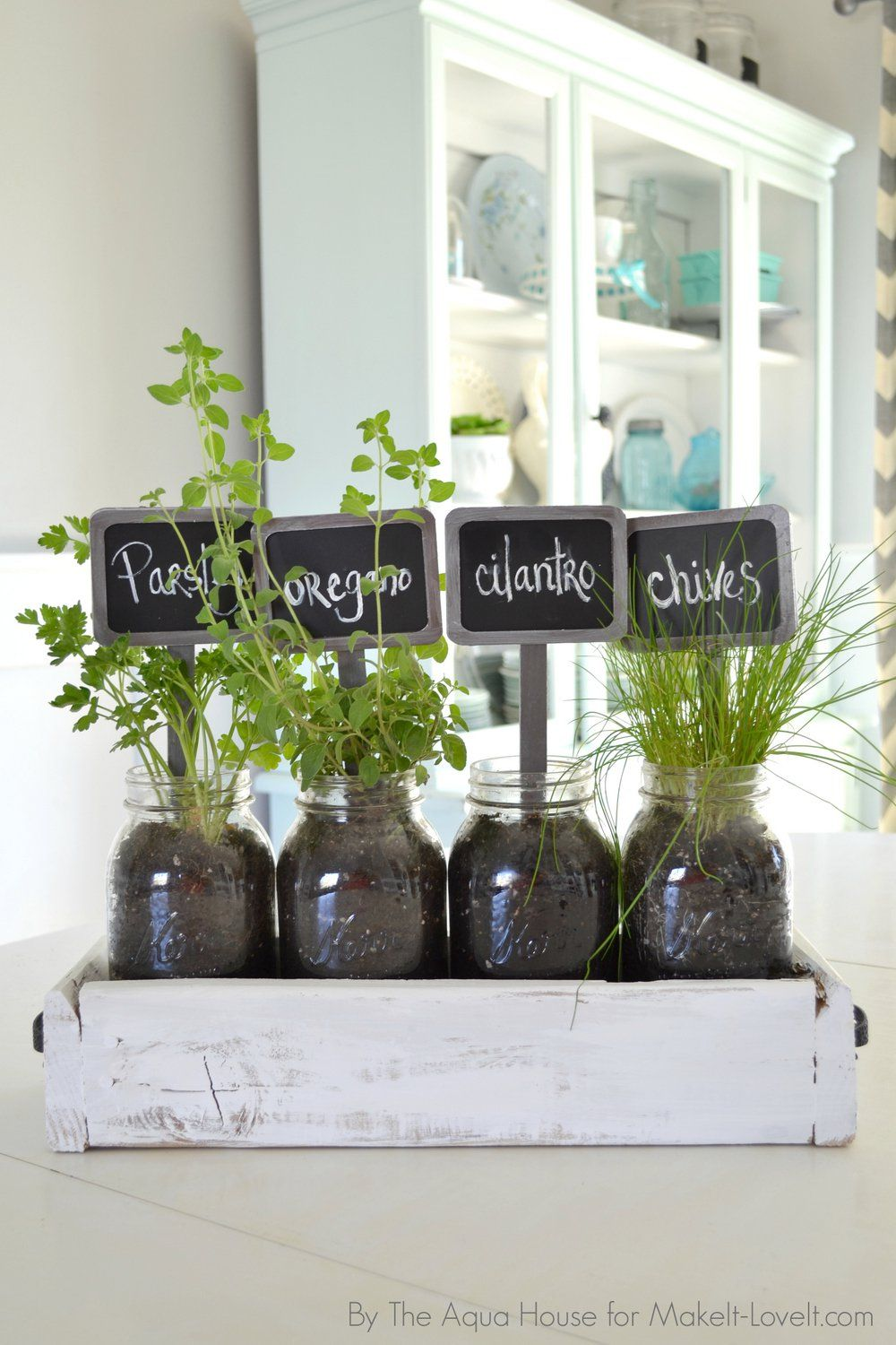 Old window ideas for outside  table top herb garden an old pallet  diy table top herbs