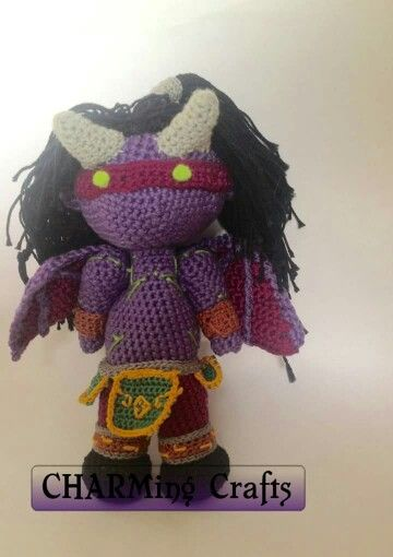 Crochet illidan stormage, pattern created and hand crocheted by ...