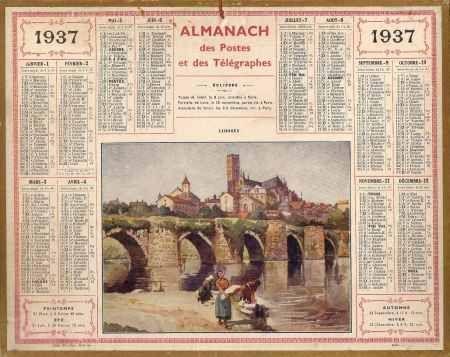 calendrier annee 1937
