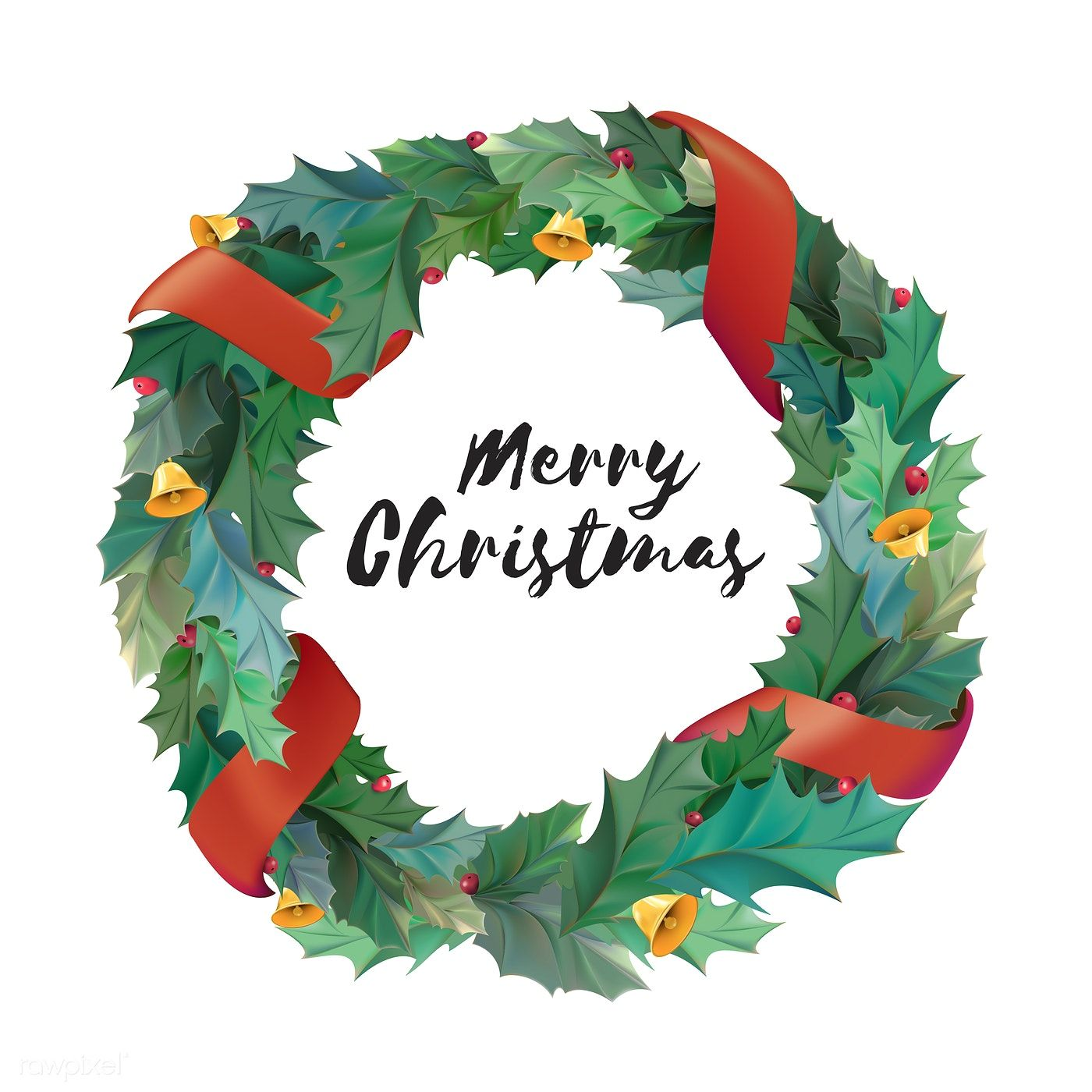 Illustration of Christmas wreath icon free image by