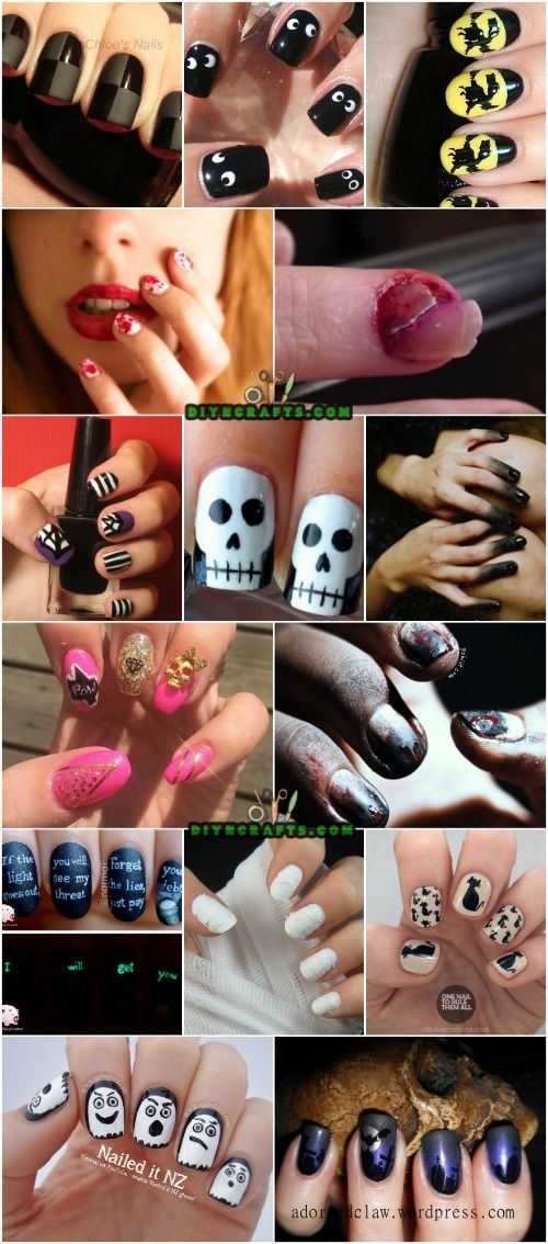 40 frightening and fun halloween nail art designs you can do 40 frightening and fun halloween nail art designs you can do yourself solutioingenieria Choice Image