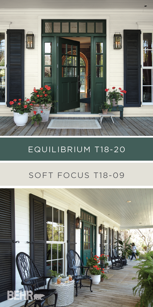 Behr Paint In Equilibrium And Soft Focus May Be From The Color Trends 2018 Collection But These Modern Hues Lend A Clic Colonial Style To This Front