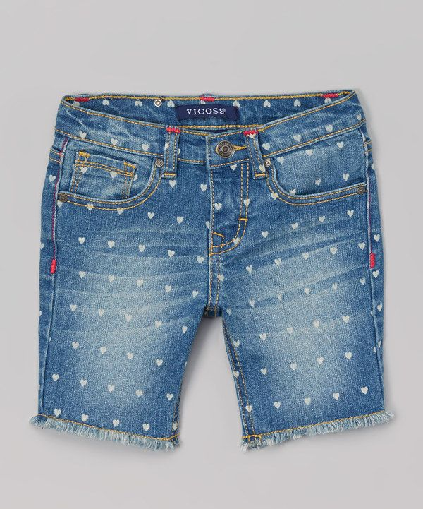 e3b96f6fd03c0 Look at this Vigoss Soft Blue Polka Dot Heart Bermuda Shorts on  zulily  today!