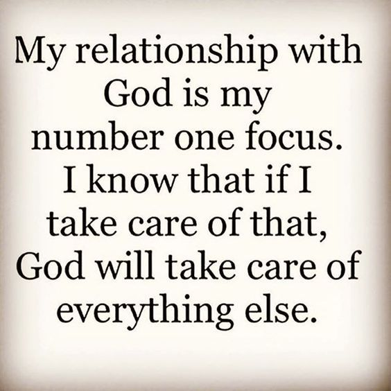 God is my number one focus. | Quotes about god ...