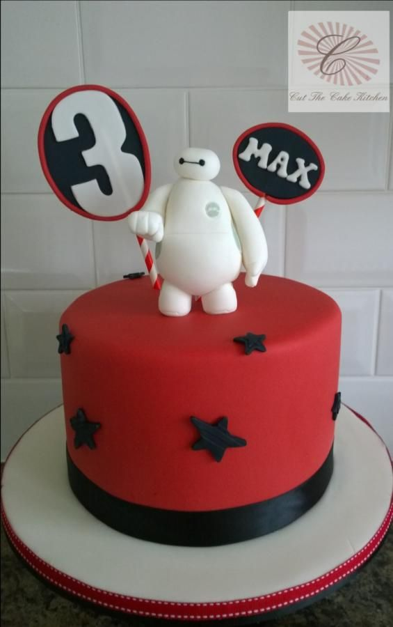 fistbumpin Baymax Cake by Cut The Cake Kitchen DelightfulFun