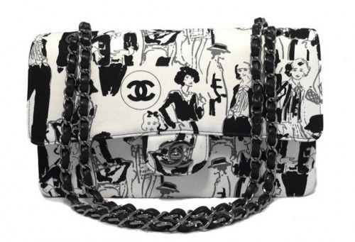 Chanel Limited Edition Karl Lagerfeld Sketch Classic Flap Bag