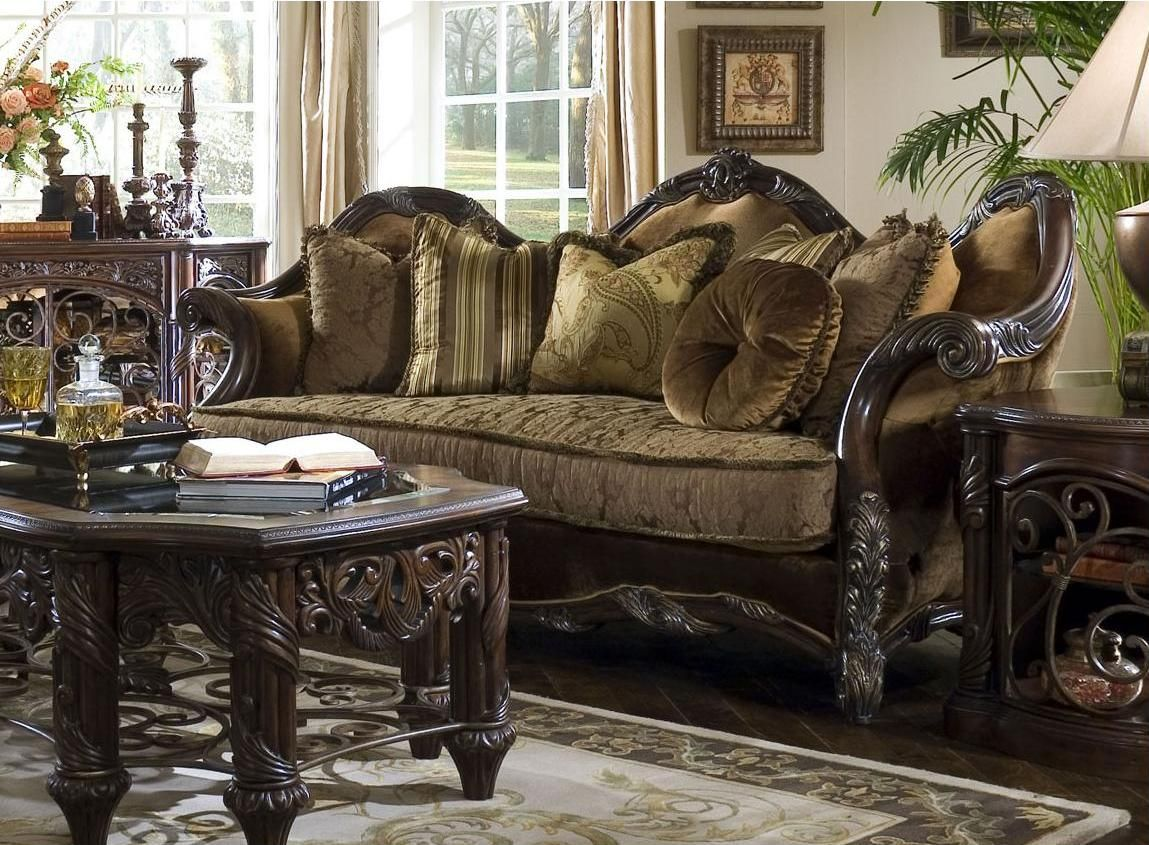 san gisille giselle loveseat room francisco bay furniture cupboard by set aico area traditional living