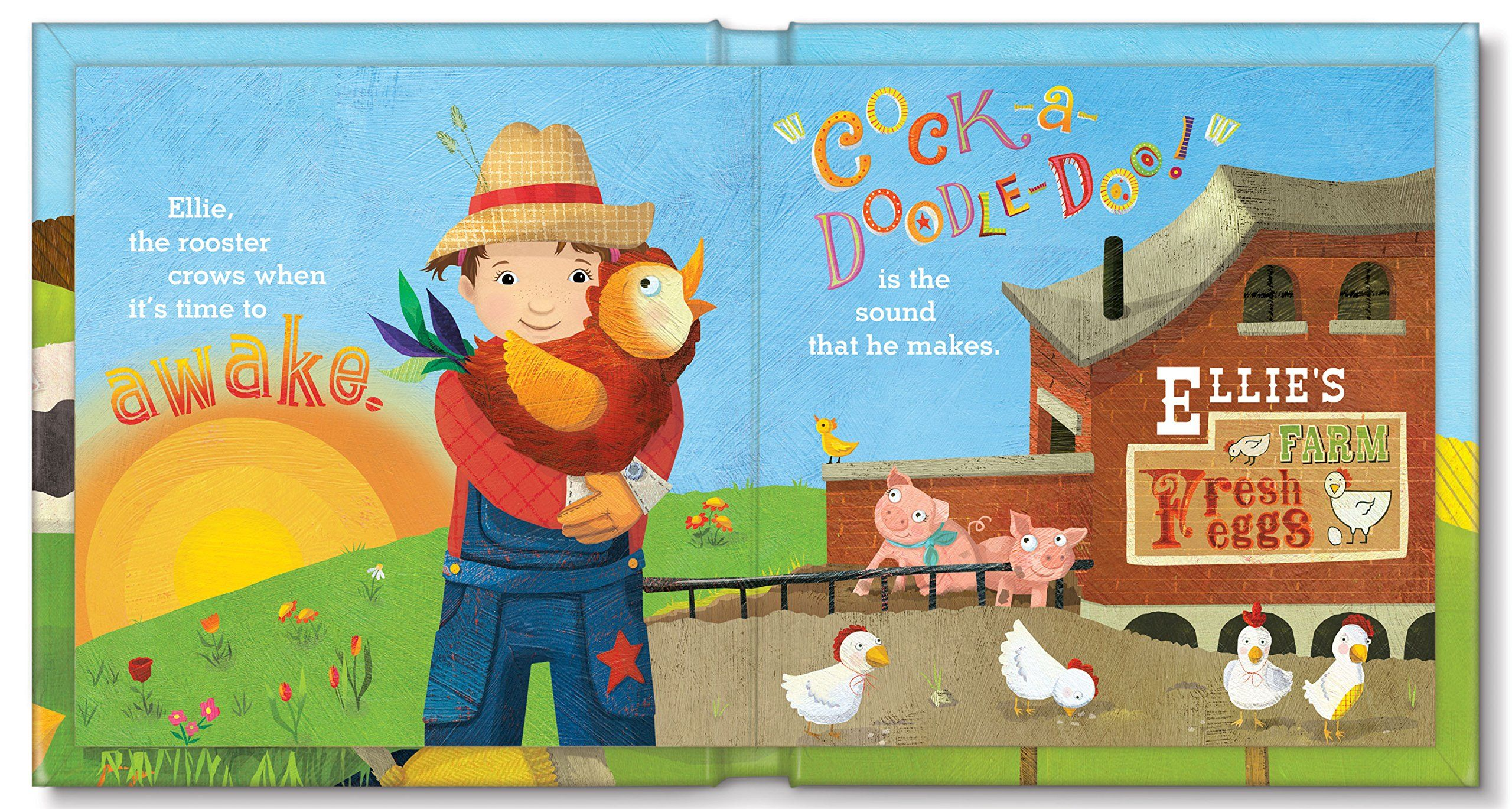 Baby farm animals personalized custom name board book i