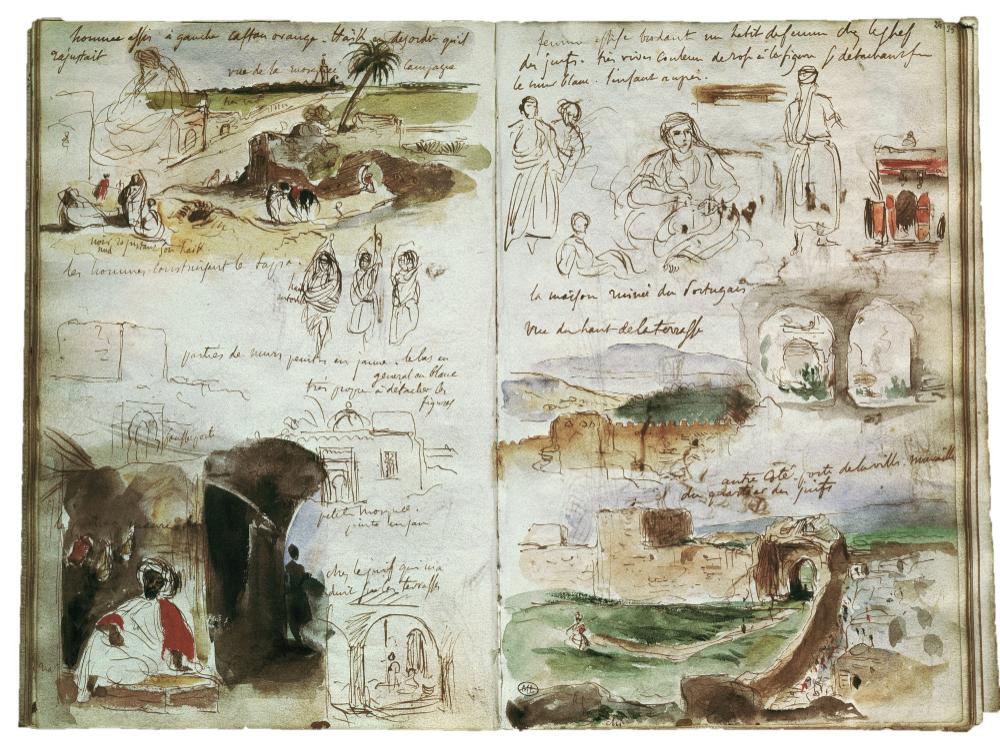 Le Carnet De Voyage Du Peintre Delacroix Au Maroc Carnet De Voyage Idees Sketchbook Carnets De Voyage