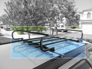 DIY Vehicle Roof Rack - This hour long project will help you save some money! If your vehicle did not come with a cross-bar roof rack, build your own at home after a quick trip to the hardware store!  Easy step-by-step tutorial.