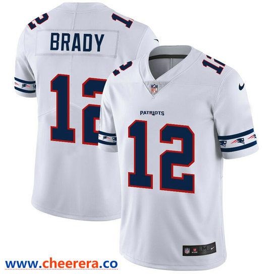 Men S Nike New England Patriots 12 Tom Brady White 2019 New Vapor Untouchable Limited Jersey Tom Brady Jersey New England Patriots Nfl New England Patriots