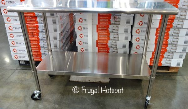 Trinity Stainless Steel Prep Table. #Costco #FrugalHotspot
