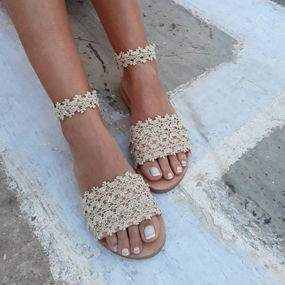 Bridal Shoes Boho: Wedding Sandals, Wedding Shoes,Bridal Sandals, Boho