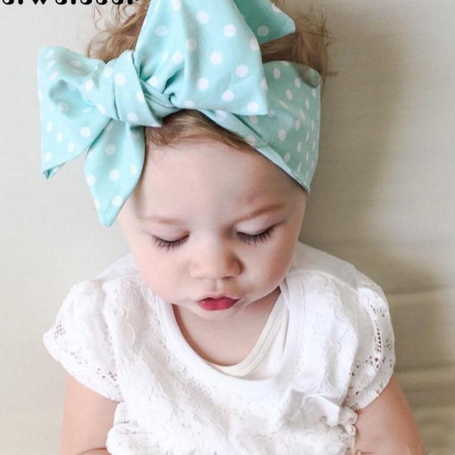 Newborn Kids Baby Girls Cotton Bow Flower Hairband Headband Turban Head Wrap New