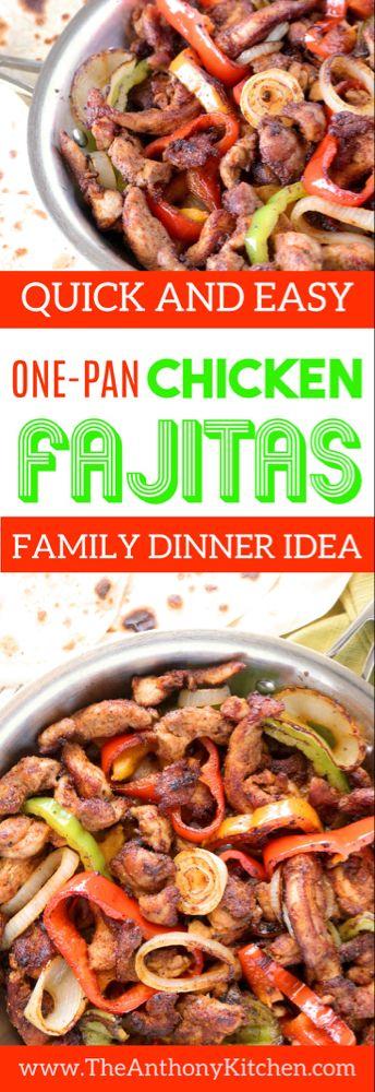 Easy Skillet Chicken Fajitas | Tex-Mex Recipe #recipeforchickenfajitas