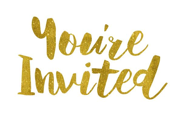 You Re Invited Gold Foil Text Gold Foil Text Youre