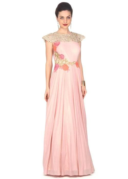 Indo Western Gowns with Cowl Drape | Fashion | Pinterest