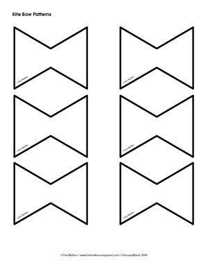 Kite Tail Pattern The Education Center Mailbox Kites Preschool