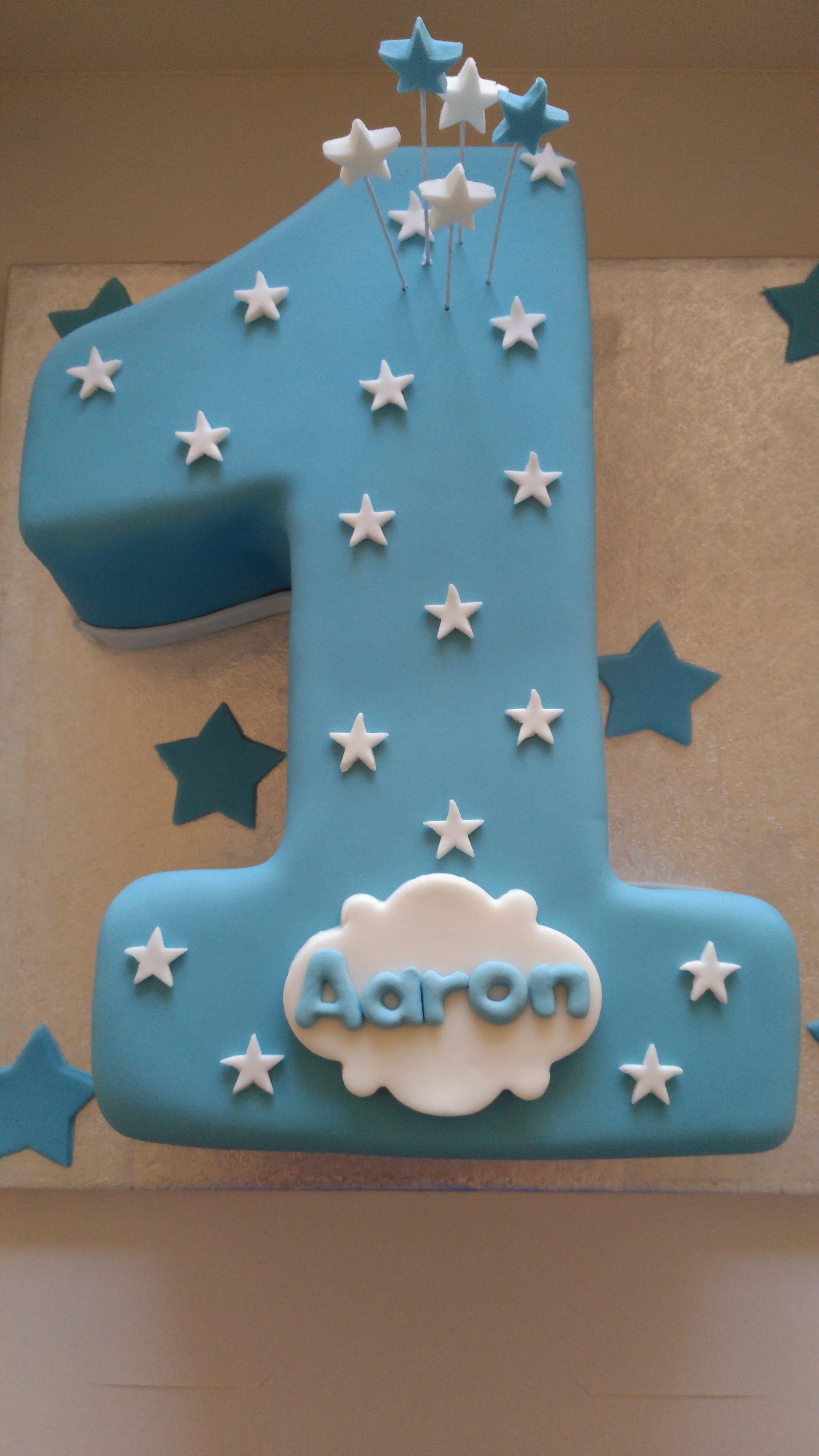 Number 1 Birthday Boy Cake