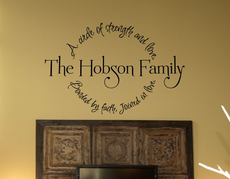 Family Circle Bonded By Faith Wall Decal Best Family Circle - Custom vinyl wall decals sayings for family room