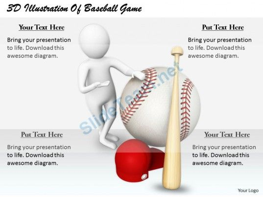 D Illustration Of Baseball Game Ppt Graphics Icons