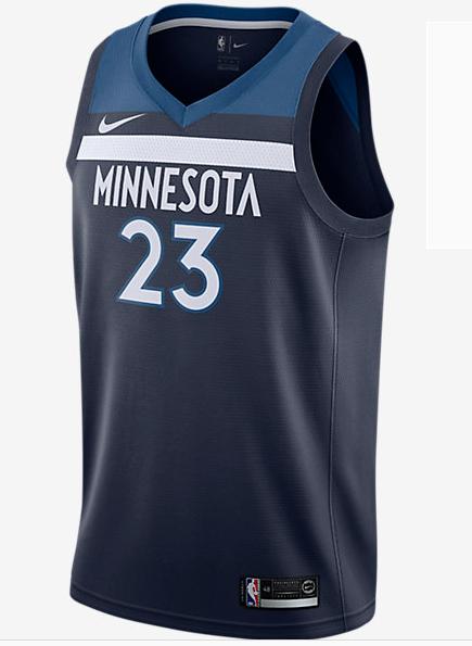 Men 23 Jimmy Butler Jersey Blue Minnesota Timberwolves Fanatics ... b41130afa