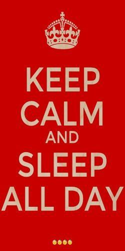 Keep Calm And Sleep All Day Plywood Wood Print Poster Wall Art