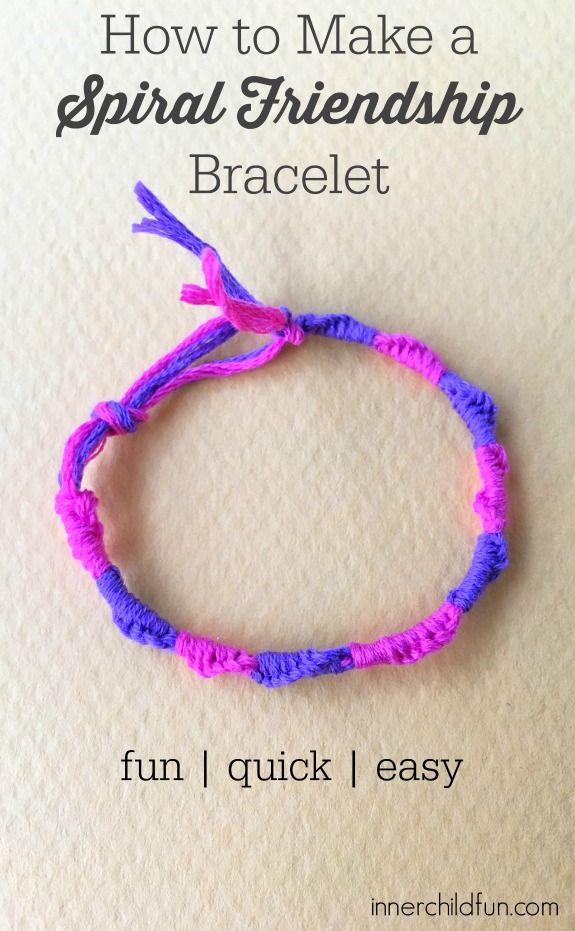 How To Make Spiral Friendship Bracelets Friendship Bracelets