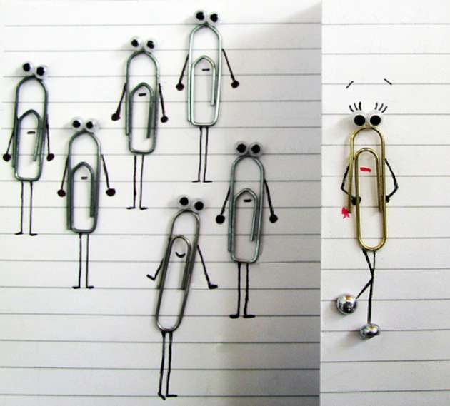 Art Sketches Of An Paperclip