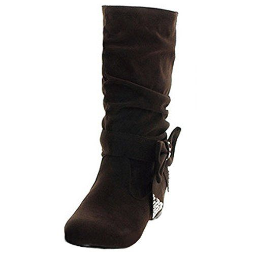 72b8824f965e Odema Women Suede Detachable Bow Calf Boots ODEMA http   www.amazon ...