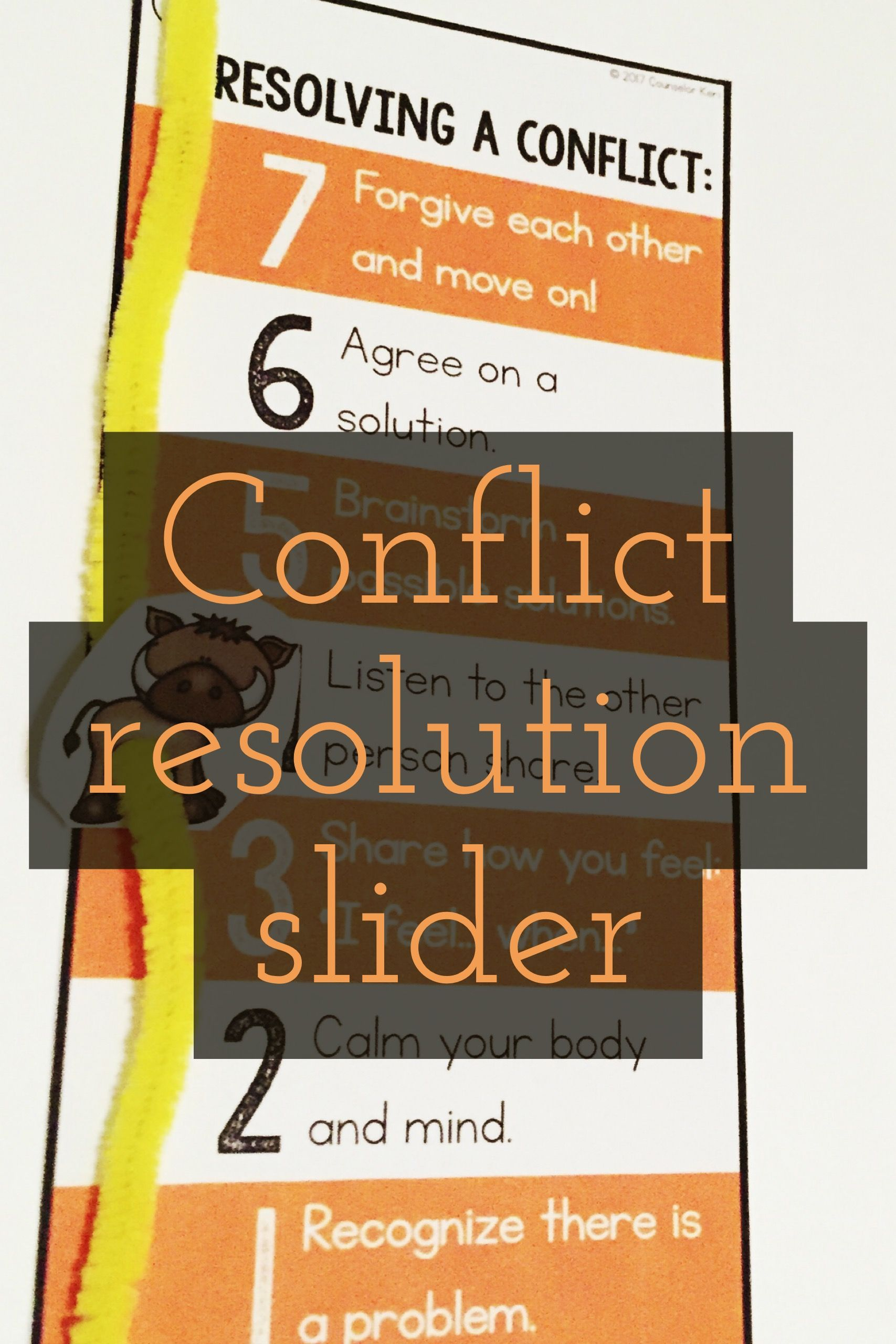 Conflict Resolution Classroom Guidance Lesson For Early Elementary Primary